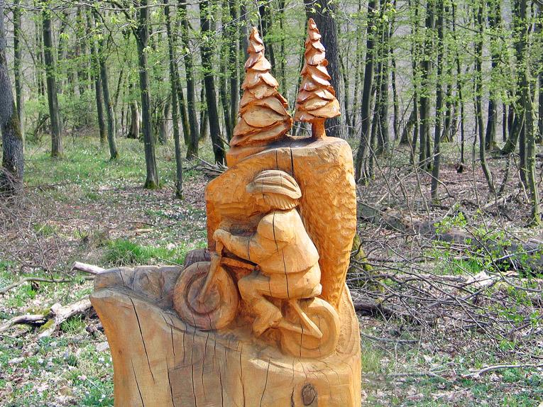 Radler aus Holz