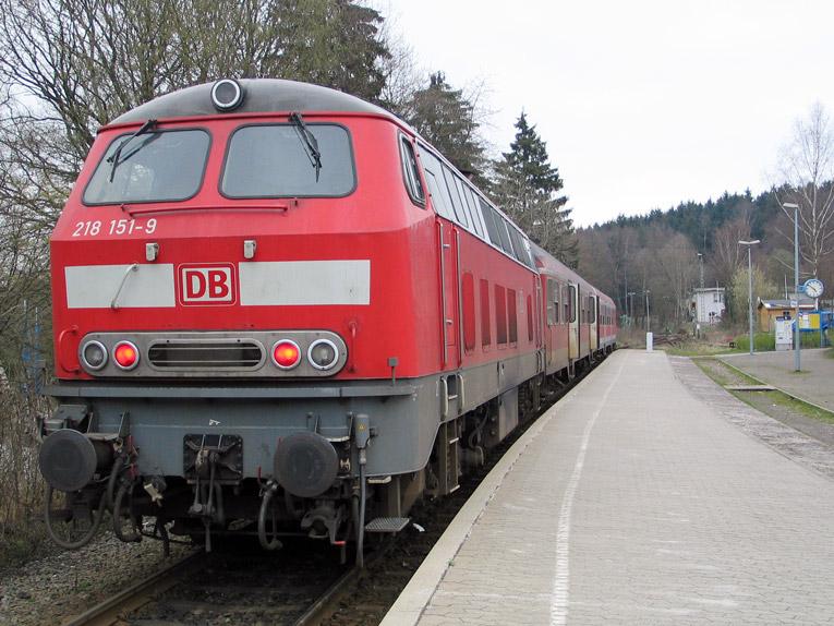 Bahnhof von Emmelshausen: Start des Schinderhannes-Radweg