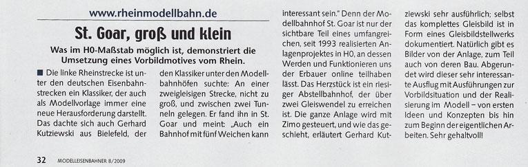 Artikel im Modell-Eisenbahner 8/2009